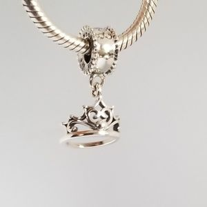 Disney PANDORA Charm - Ariel Tiara  Dangle Silver